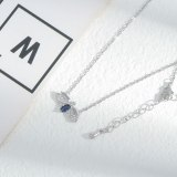Element Crystal Butterfly Necklace for Women Micro-Inlaid Full Diamond Exquisite Light Luxury Clavicle Chain Jewelry Wholesale