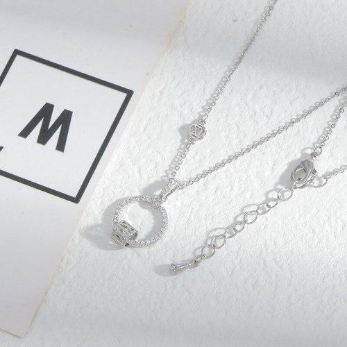 New Micro Zircon-Laid Necklace Female Niche Design All-Match Clavicle Chain Jewelry Wholesale