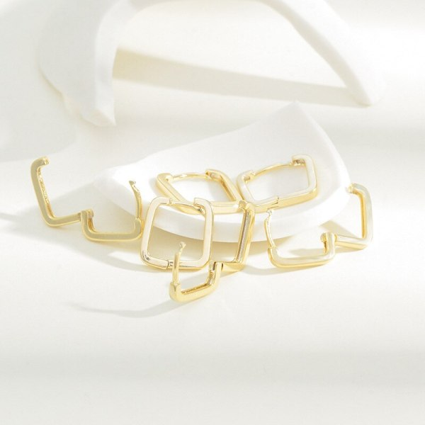 Korean Fashion Girl Three Piece Set Combination Ear Clip One Card Three Pairs Student All-Match Simple Earrings Ornament