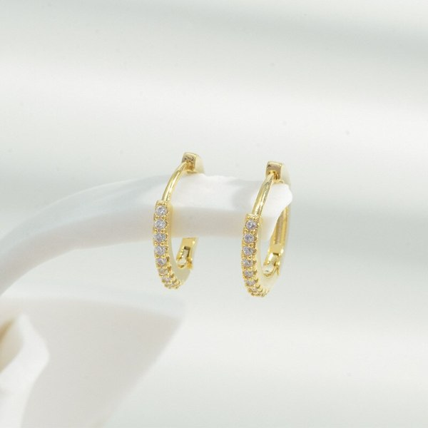 High-End Korean Style Korean Earrings Suit Fashion Creative Micro Inlaid Zircon Love Heart-Shaped Pendant Earclip Earrings