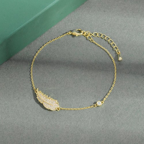Electroplated 14K Gold Micro Inlaid Zircon Full Diamond Bracelet Female European and American Fashion Ins Style Jewelry