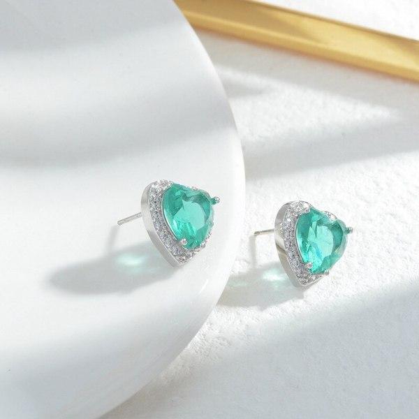 Sterling Silver Needle Zircon Earrings Korean Style Fashionable Lovely Earrings Exquisite Light Luxury Earrings