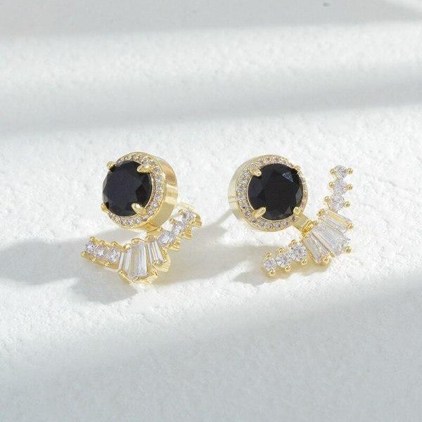 Korean  Zircon Stud Earrings for Women Sterling Silver Needle Korean Fashion Earrings Personality Wild Earrings