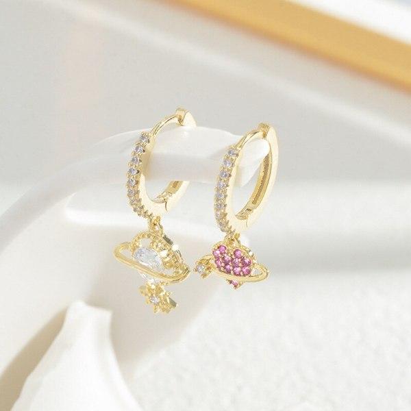 Korean Style Fashion Three-Piece Set Combination Earrings Female Three Pairs Eight Awn Star Moon Earring Ornament Wholesale