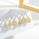 Fashion Three-Piece Set Combination Earrings Female Petal Pearl Mini and Simple Earrings Wholesale