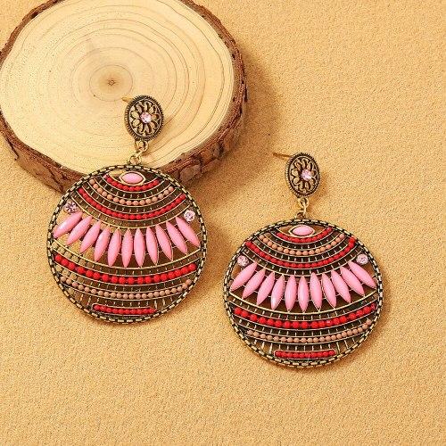 New Bohemian Stud Earrings For Women fashion Trend Hollow Ear Stud Earrings Ornament
