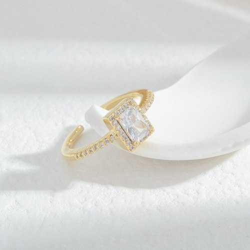 INS Ring Simple Fashionmonger Internet-Famous Index Finger Ring Special-Interest Design Micro Inlaid Zircon Tail Ring Ring