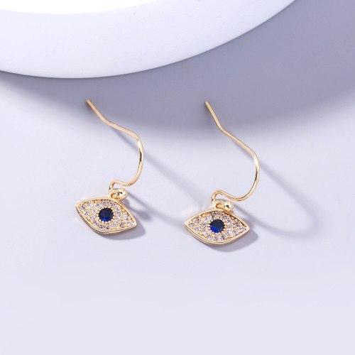 Ornament FashionCross Border Gold Micro Inlaid Devil's Eye Zircon Simple Personality Accessories