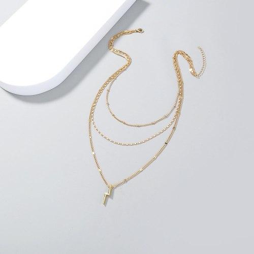 FashionRetro Clavicle Chain Fashion New Women's Multi-Layer Personality Lightning Pendant Necklace Ornament