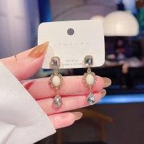 Sterling Silver Needle New Baroque Earrings Crystal Long Eardrop Earring Wholesale