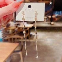 Wholesale New Tassel Long Earrings Diamond Ear Studs Earrings for Women Dropshipping