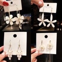 Wholesale Pearl Crystal Earrings Female Stud Earrings Long Tassel Earrings Jewelry Gift