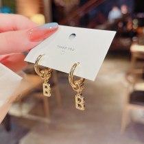 Wholesale New Letter B Earrings Eardrops Female Drop Earrings Jewelry Gift
