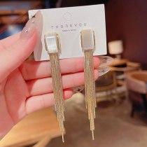 Wholesale 925 Silver Pin Long Fringe Earrings Female Opal Ear Studs Earrings Jewelry Gift