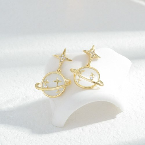 Wholesale Sterling Silver Pin Post Four Awn Ball Stud Earrings Female Women Earrings Jewelry Gift