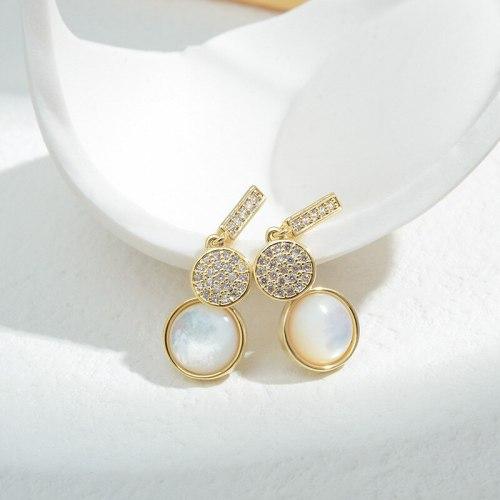 Wholesale Sterling Silver Pin Post Zircon Long Earrings Female Women Earrings Fashion Jewelry Gift