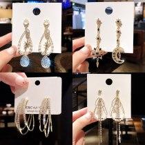 Wholesale Sterling Silver Pin Post Ear Studs Long Fringe Earrings Female Women Eardrops Wholesale Jewelry Gift
