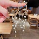 Wholesale Long Pearl Tassel No Piercing Ear Hooks Earrings Female Women Earrings Jewelry Gift