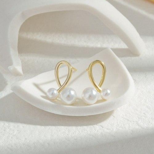 Wholesale S925 Silver Pearl Stud Earrings Female Women Eardrops Earrings Wholesale Jewelry Gift