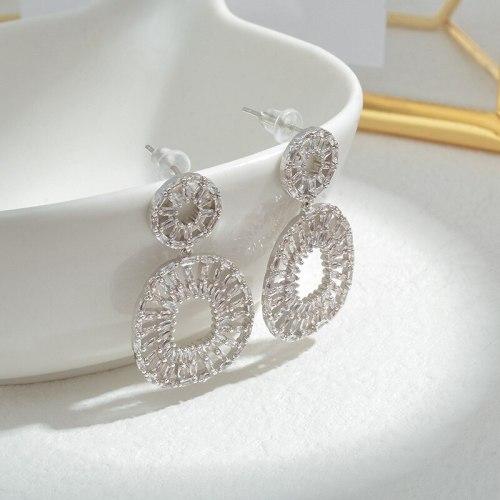 Wholesale Zircon Earrings Sterling Silver Pin Post Stud Earrings for Women Jewelry Gift