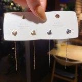 Wholesale 925 Silver Pin Post Pendant Ear Line Earrings Eardrops Jewelry Gift