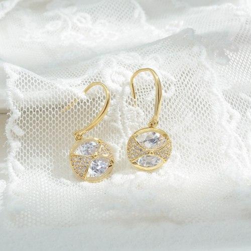 Wholesale Zircon Earrings Sterling Silver Pin Post Earrings Ear Studs Jewelry Gift