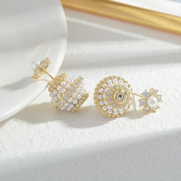 Wholesale Sterling Silver Pin Post One Style for Dual-Wear Pearl Stud Earrings Female Women Earrings Ornament Jewelry Gift
