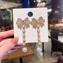 Wholesale Sterling Silver Pin Post Bowknot Earrings Female Women Stud Earrings Fashion Jewelry Gift