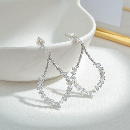 Wholesale Sterling Silver Pin Post Stud Earrings Female Women Zircon Earrings Jewelry Gift