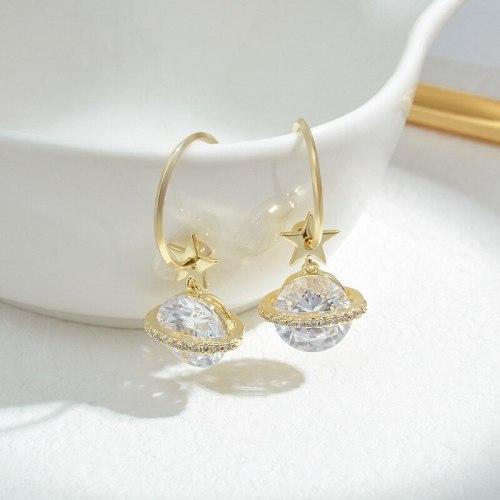 Wholesale New Planet Earrings Women's Sterling Silver Pin Post XINGX Earrings Earring Ornament Jewelry Gift
