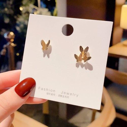 Wholesale 925 Silver Pin Butterfly Studs Women Girl Lady  Earrings Dropshipping Jewelry