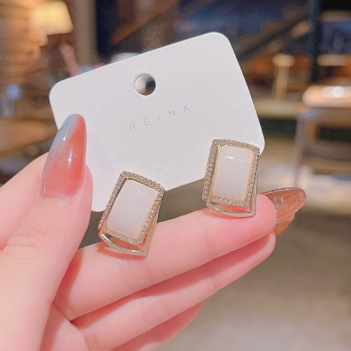 Wholesale New Studs Sterling Silver Pin Earrings for Women Dropshipping Jewelry