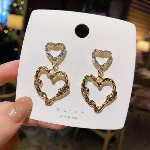 Wholesale Love Heart Earrings S925 Silver Fashion Earrings Dropshipping Jewelry