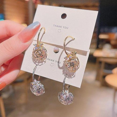 Wholesale Sterling Silver Pin New Zircon Flower Earrings Women Girl Lady Stud Earrings Jewelry Dropshipping Jewelry