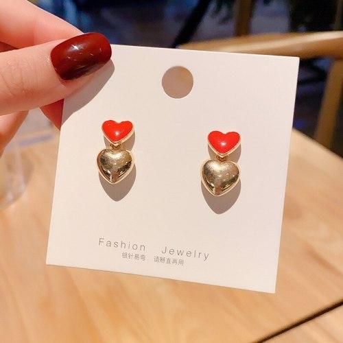 Wholesale Love Heart Earrings Heart-Shaped 925 Silver Stud Earrings Wholesale Dropshipping Jewelry