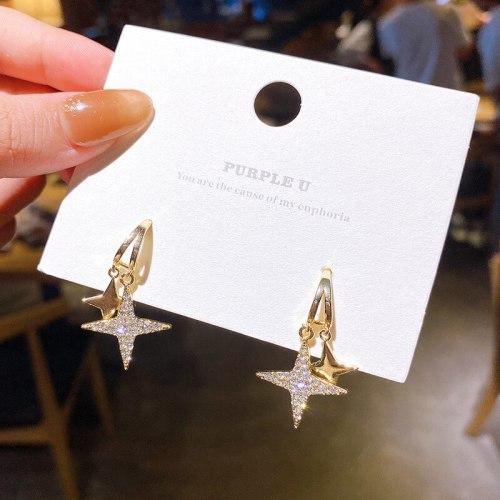 Wholesale Sterling Silver Pin Star Fashion Earrings for Women Earrings Dropshipping Jewelry