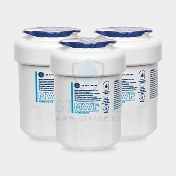GЕ MWF Water Filter for Refrigerators GE MWF Smart Water Filter Cartridge,3-pack