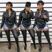 2020 Top Model Women's Urban Casual Leather Outerwear Leather Coat Women 20200303148