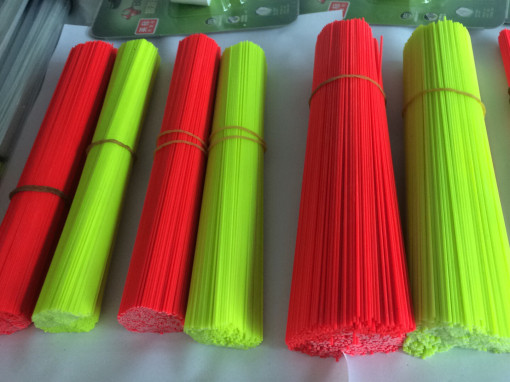 1 of 2 Painted Solid Fibreglass Stems Rods Tips Red and Yellow 0.8 1.0 1.2mm