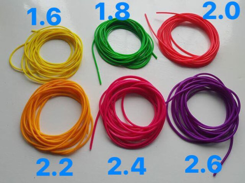 1 of 2 Double Layers Twincore Hollow Latex Elastic 1.6 1.8 2.0 2.2 2.4 2.6 2.8 3.0 3.2 3.5 4.0mm