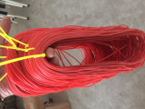 Single Layers Hollow RUBBER Elastic 2.2mm Red-- NOT Latex