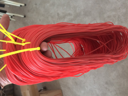 Sungle Layers Hollow RUBBER Elastic 2.2mm Red-- Not Latex