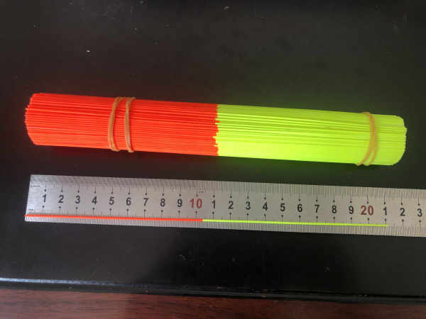 3 of 3 Painted Solid Fibreglass Stems Rods Tips Red + Yellow 1.0