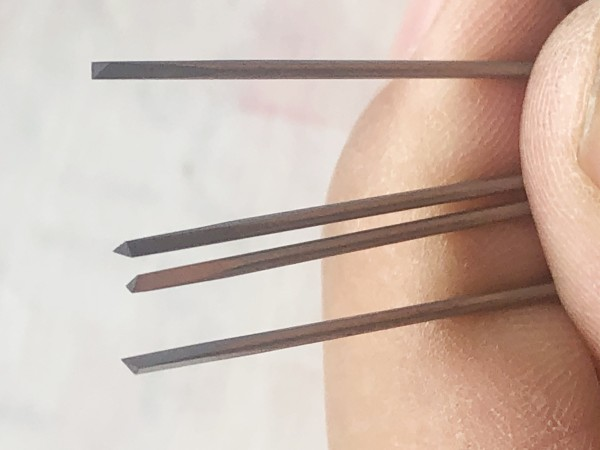 Tungsten Bits Needle Wear-resistant Drilling For Float Bodies 15cm Both Sides Triangular Tip Sharpened