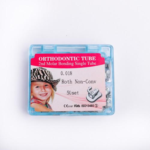 50Sets Dental Orthodontic  1st/2nd Molar Roth/MBT Split Buccal Tube Non-Convertable Bondable