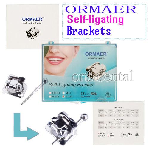 ORMAER Dental Orthdentic Self-Ligating Brackets Roth/MBT 022 28pcs/kit DAMON Q System
