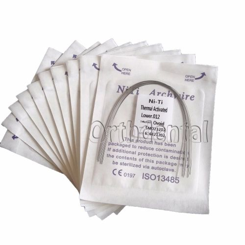 10Packs Dental Orthodontic Super Elastic Niti Heat Thermal Activated Round/ Rectangular Arch wire Ovoid Form