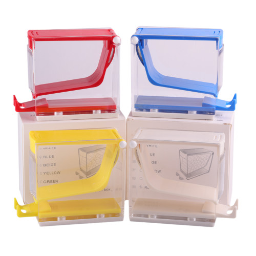 Dental Cotton Roll Dispenser Holder Storage Organizer Box Press/Drawer Type White/Blue/Yellow/Red