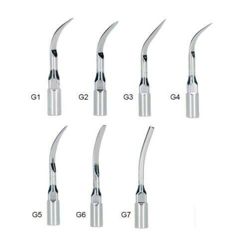 7Pcs Dental Ultrasonic Scaler Tips G1--G7 Compatible EMS & Woodpecker Scaler