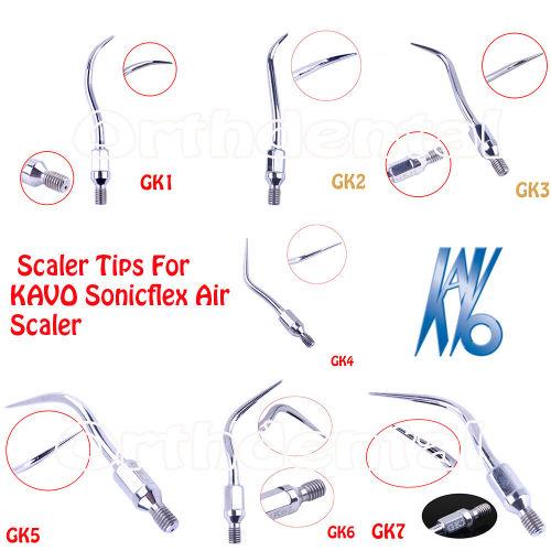 Dental Scaler Tips Scaling For KAVO Sonicflex Air Scaler handpiece GK1-GK7